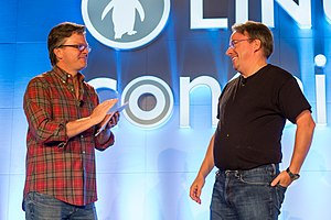 Jim Zemlin - Image: Linus Torvalds and Jim Zemlin
