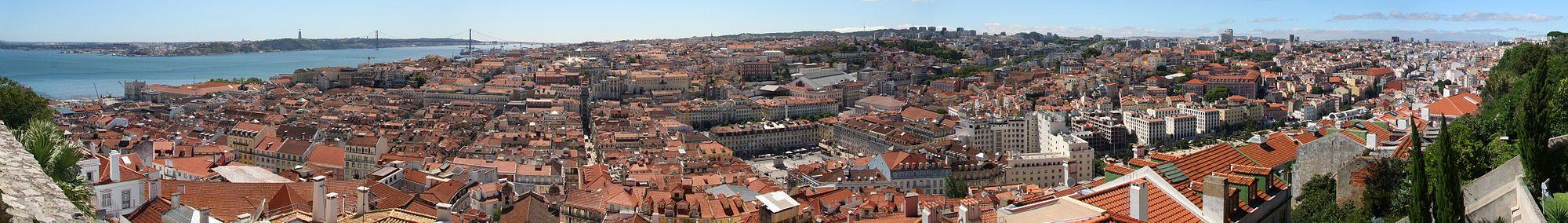 Panorama da cidade a partir do Castelo de São Jorge.