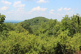 Little Kennesaw Mountain, viewed from Kennesaw Mountain.JPG