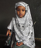 somalia girl seven with head dress