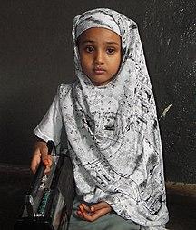 Somálsko-Obyvateľstvo-Little Somali girl