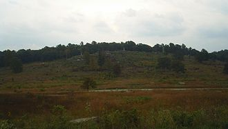 Little Round Top - Little Round Top photographed in 2006