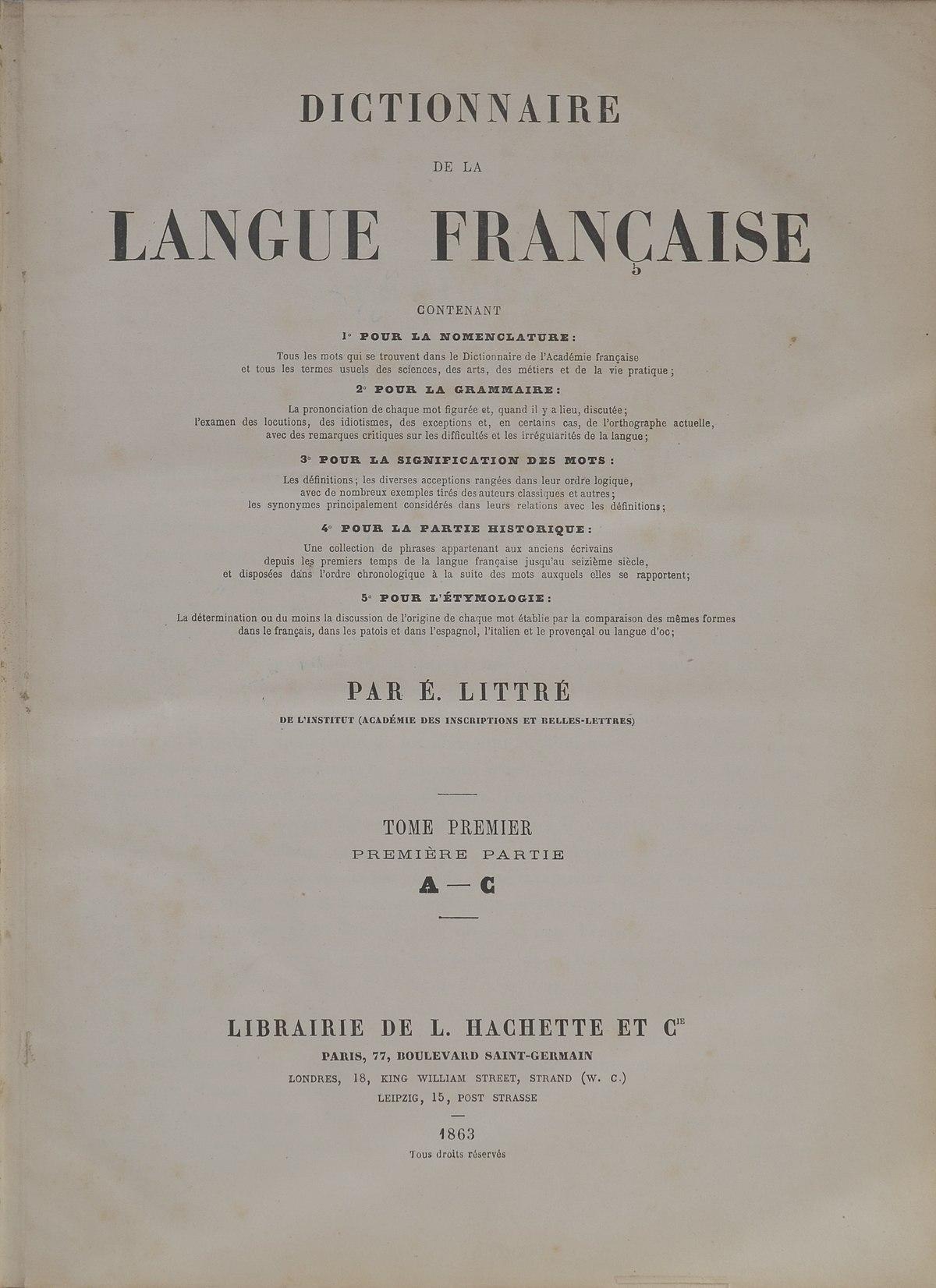 Dictionnaire etymologique langue francaise online dating