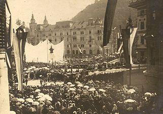 Ljubljana - odkritje spomenika Francetu Prešernu, 10. 9. 1905.jpg