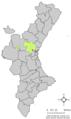 Localització de Sant Antoni de Benaixeve respecte del País Valencià.png