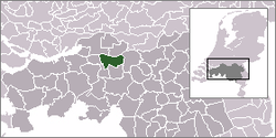 Location of Waalwijk