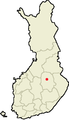 Location of Maaninka in Finland.png