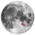Location of lunar crater theophilus