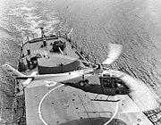 Lockheed XH-51A landing aboard USS Ozbourn (DD-846), circa in 1963 (4561400925)