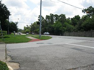 Long Point–Eureka Heights fault system - Image: Long Point Fault at Memorial Houston