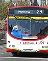 Lothian Buses bus 147 Volvo B7RLE Wright Eclipse Urban SK07 CFZ Harlequin livery Route 29 The Best Deal branding.jpg