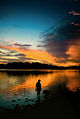 Lower Peirce Reservoir, Singapore, at sunset - 20051225-02.jpg