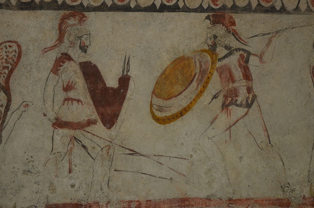 1024px-Lucanian_fresco_tomb_painting_depicting_a_duel_judge_by_a_sphinx%2C_340_BC%2C_Paestum_Archaeological_Museum_%2814416492100%29.jpg