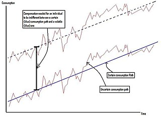 Welfare cost of business cycles - Compensating an individual for volatility in consumption (click to enlarge)