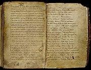 Ludwigslied Manuscript Valenciennes p. 1+2