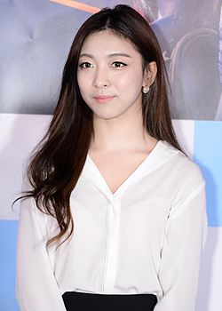 Luna (Park Sun-young) at The Lightning Man's Secret VIP premiere 02.jpg