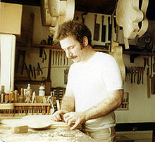 Robert Benedetto in his shop, circa 1976