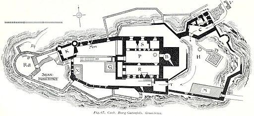 Luthmer V - 67 - Kaub Burg Gutenfels Grundriss