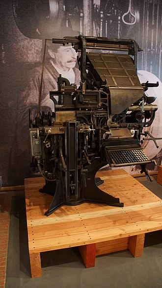 La Fonderie, Brussels Museum of Industry and Labour - Image: Lynotype machine by Lynotype and Machinery Ltd (London) used at Drukkerej Delit, Ukkel