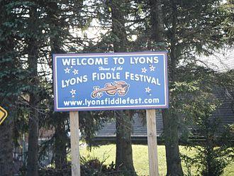 Lyons, Pennsylvania - Lyons welcome sign