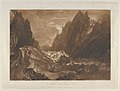 Mêr de Glace, Valley of Chamouni-Savoy (Liber Studiorum, part X, plate 50) MET DP847237.jpg