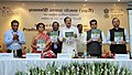 M. Venkaiah Naidu releasing the publication, at the National Conference for reviewing the progress of Pradhan Mantri Awas Yojana (Urban) Mission, in New Delhi (2).jpg