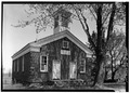 MAIN (SOUTH) ELEVATION - Cobblestone Schoolhouse, Ridge Road (U.S. Route 104), Childs, Orleans County, NY HABS NY,37-CHILD,2-1.tif
