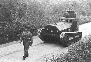 LK II - A Swedish m/21 tank.