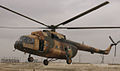 MI-17 helicopter of the Afghan Air Force in 2014, Mazar-i-Sharif.JPG