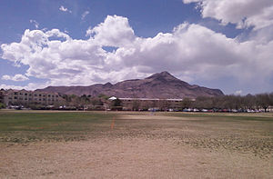 "Socorro, New Mexico - ""M"" Mountain, west of Socorro"