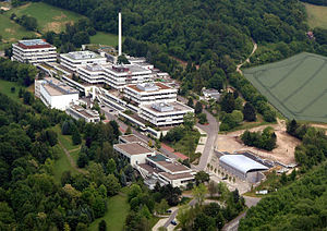 Max Planck Institute for Biophysical Chemistry - Aerial picture of the Max Planck Institute for Biophysical Chemistry, Göttingen (Picture: Jörg Winkler, 2007)