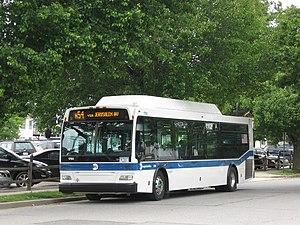 MTA Long Island Bus #1790 arrives in Amityvill...