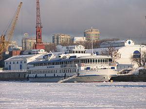 M V Lomonosov in North River Port 31-jan-2012 01.JPG