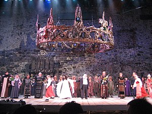 Finnish opera - Macbeth applause at Savonlinna Opera festival in 2007.