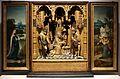 Maestro del 1518, altare domestico con annunciazione, visitazione e adorazione dei pastori, 1520 ca. 01.jpg