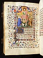 Maestro di bedford, libro d'ore secondo l'uso di parigi, parigi 1420 ca. 02 cristo giudice tra santi.jpg