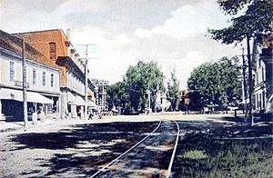 South Berwick, Maine - Central Square c. 1910