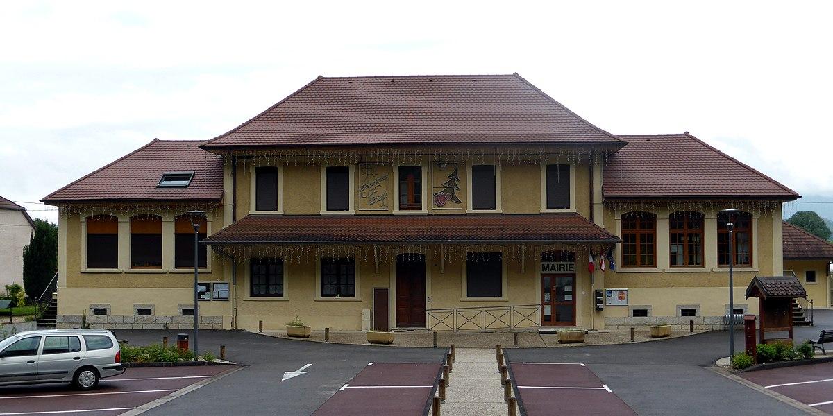 Town hall of La Balme, Savoie, Rhône-Alpes, France.