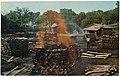 Making charcoal at Jack Daniels, Jack Daniel Distillery, Lynchburg (pop. 361), Tennessee.jpg
