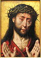 Man of Sorrows by Aelbrecht Bouts, mid 1490s - Fogg Art Museum - DSC02361.JPG