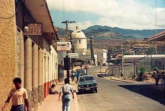 Matagalpa, Nicaragua - Street in Matagalpa, April 1988.
