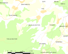 Mapa obce Neuville-lès-This