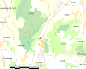 Map commune FR insee code 65002.png