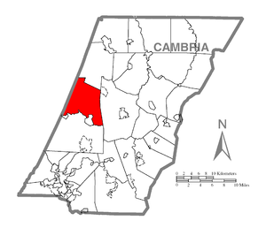 Blacklick Township, Cambria County, Pennsylvania - Image: Map of Blacklick Township, Cambria County, Pennsylvania Highlighted
