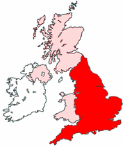 England's location within the UK