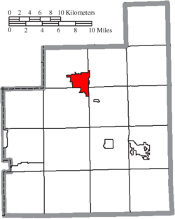 Location of Chardon in Geauga County