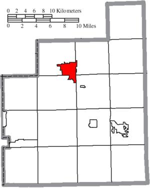 Chardon, Ohio - Image: Map of Geauga County Ohio Highlighting Chardon City