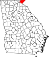 Map of Georgia highlighting Rabun County.svg