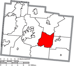 Location of New Jasper Township in Greene County
