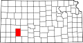 Map of Kansas highlighting Gray County.svg
